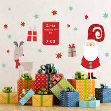 christmas childrens wall stickers by parkins interiors christmas childrens wall stickers