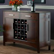 winsome gardner wine storage buffet table null