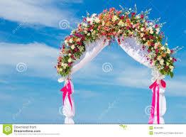 How To Decorate A Wedding Arch Wedding Arch Cabana Gazebo On Tropical Beach Stock Photo Image