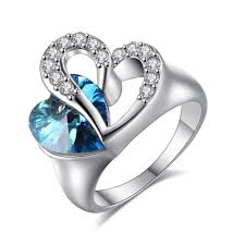 blue crystal rings images Buy heart of ocean blue crystal ring fashion jpg