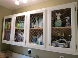 small basement pantry and laundry room makeover design with white