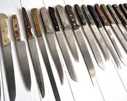 kitchen knife collection knives etsy