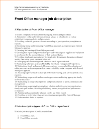 Manager Job Description Resume by Office Duties Resume Description Resume Resume Exampl Sample Job