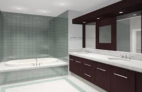 interesting bathroom presenting white bathtub and grey wall also