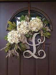Wreath For Front Door   best selling year round cream hydrangea wreath for front door