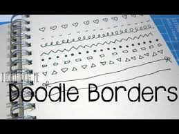 doodle with draw easy borders for you planner bullet journal doodle