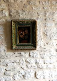 vintage frame old stone wall french country style honey of