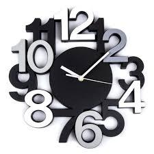 horloge murale cuisine pendule murale cuisine pendule silencieuse 3 d noir horloge murale