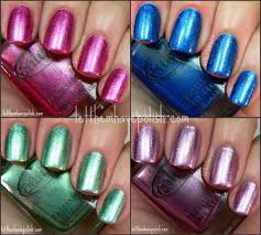 let them have polish color club foiled collection swatches and