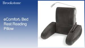 cheap bed rest pillow ecomfort bed rest reading pillow youtube