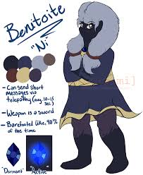 benitoite drawing gemsona celestine by kittify on deviantart
