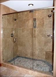 stunning beach cottage bathroom ideas with frameless clear glass