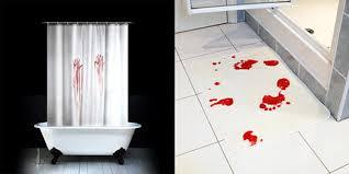 bloody bath shower curtain blood bath mat blood bath set