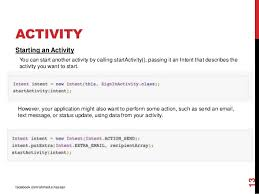 android start activity android development session 2 intent and activity