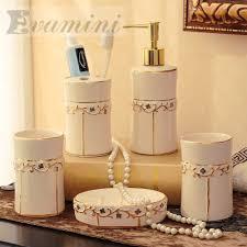 china ceramic bathroom set five piece of bathroom fashion modern