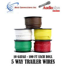 5 rolls 10 gauge 100 ft trailer light cable wiring harness car