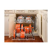 2 tier cabinet organizer two tier pots pans and lids organizer for kitchen cabinet heavy