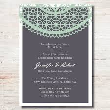 engagement party invites mint green lace printed cheap engagement party invitation cards