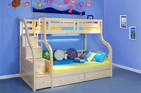 Luxury Carved Solid Pine Wood Double Bunk Beds With Staircase And - Solid oak bunk beds with stairs