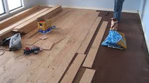 floating wood floor for basement ideas youtube