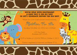 Walmart Baby Shower Invitation Cards Create Easy Jungle Theme Baby Shower Invitations Designs