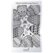 genuine konad stamping nail art square image plate 13 14 15 16