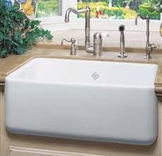 Rohl RCWH Shaws  Apron Front Single Bowl Fireclay - Shaw farmhouse kitchen sink