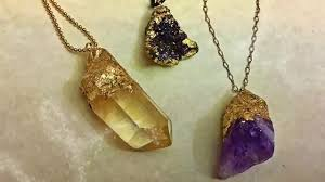 gold dipped the easiest diy faux gold dipped crystals and druzies for jewelry