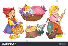 set cute fairy tale characters isolated stock illustration