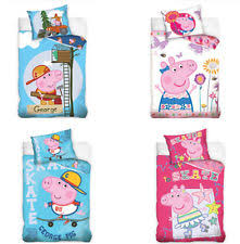 Peppa Pig Single Duvet Set Peppa Pig 100 Cotton Home Bedding For Children Ebay