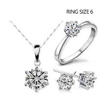 fashion jewelry statement necklace images 2018 hot sale silver color fashion jewelry sets cubic zircon jpg