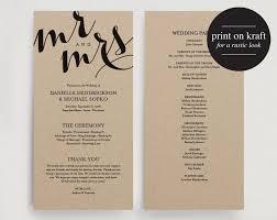 wedding programs diy templates wedding program printable template printable program diy