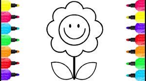 simple flower emoji face coloring pages how to draw emoji face and