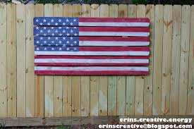 American Flag Home Decor Erin U0027s Creative Energy Fence Picket Flag