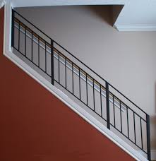 Metal Banister Rail Stair Contemporary Railing Contemporary Stair Railing