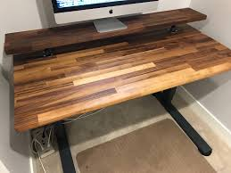 walnut butcher block desktop 25 x52 inch character black zoom