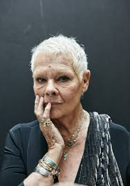 judi dench hairstyle front and back of head queen bow down to tattoo flashing octogenarian dame dench the new