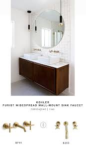 wall mount sink faucet kohler purist widespread wall mount sink faucet copycatchic