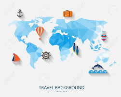 Maps Around The World by Travel Around The World Background Abstract Map Tourism Concept