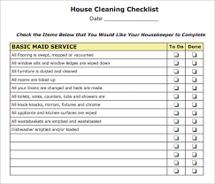 house checklist house cleaning checklist pdf template business