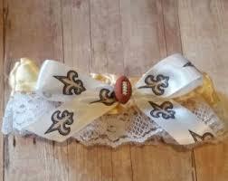 saints ribbon saints garter etsy