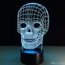 Halloween Skull Decorations 2017 Halloween Skull 3d Night Light 3d Skull Bulbing Bedroom