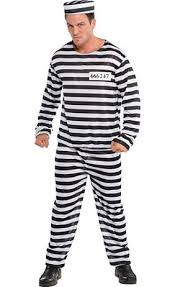 Inmate Costume Jail Bird Prisoner Costume For Adults Party City