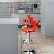 modern orange bar stools dining room modern bar stools for your home interior design ideas