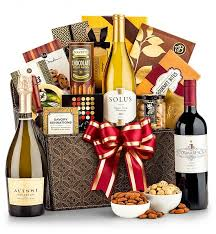 Wine And Chocolate Gift Basket Premier Selections Wine Gift Basket