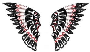 native american red black wings tattoo design photos pictures