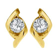 gold and diamond earrings diamond earring in yellow gold san20 gold earrings homeshop18
