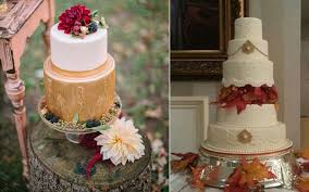 autumn wedding cakes by elysia root cakes left and cocomoiselle