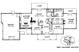 36 colonial home plan with basement walk out surrey lane colonial