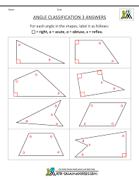 math angle worksheets worksheets